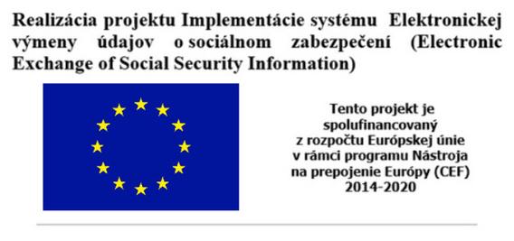 Realizácia projektu Implementácie systému  Elektronickej výmeny údajov o sociálnom zabezpečení